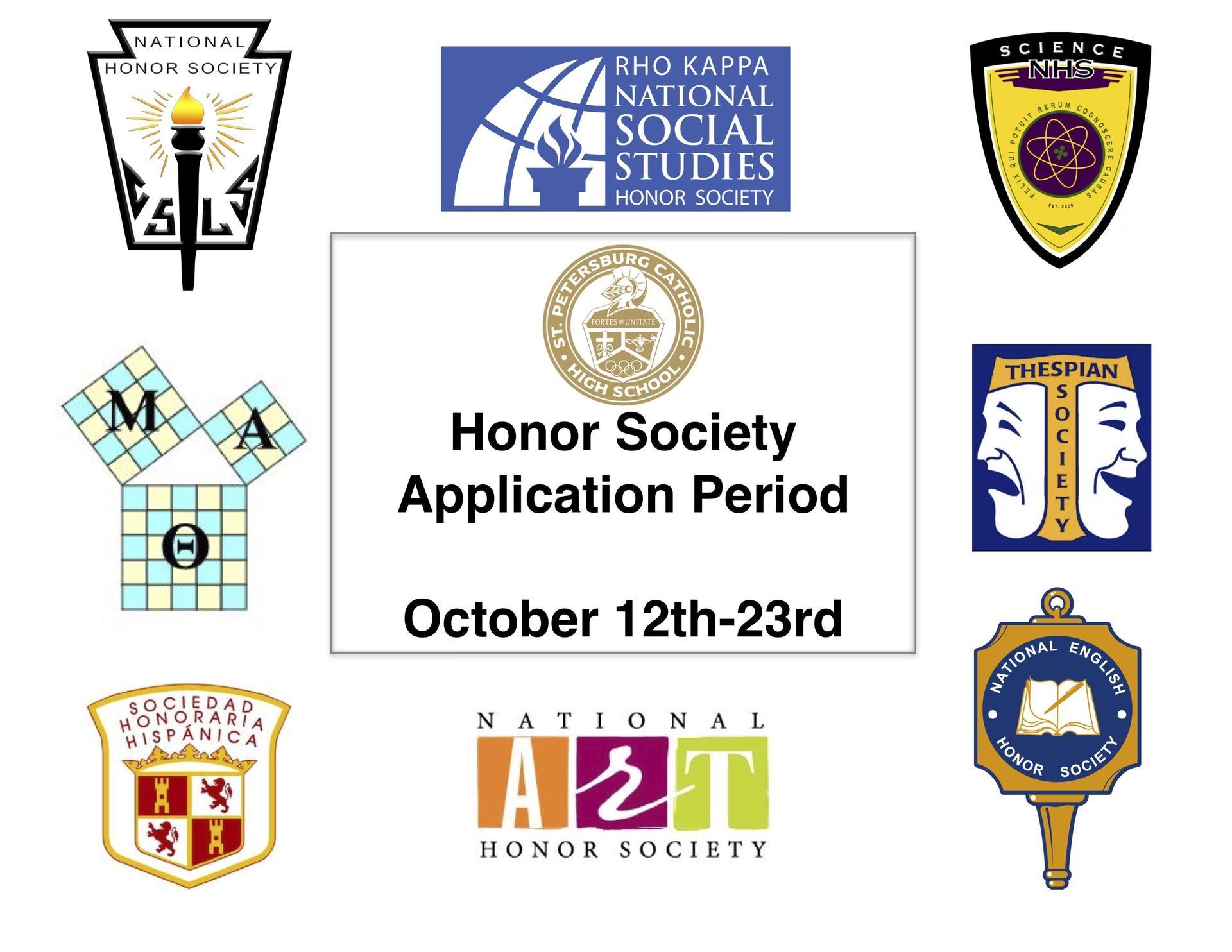 Honor Society App Period Flyer