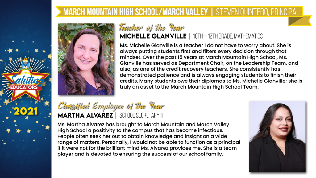 MMHS/MVS Employees of the Year