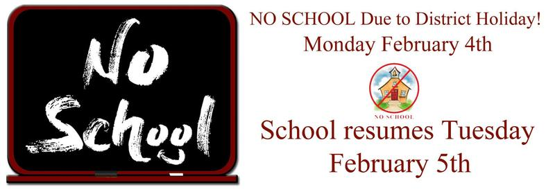 No School Monday February 4th Featured Photo
