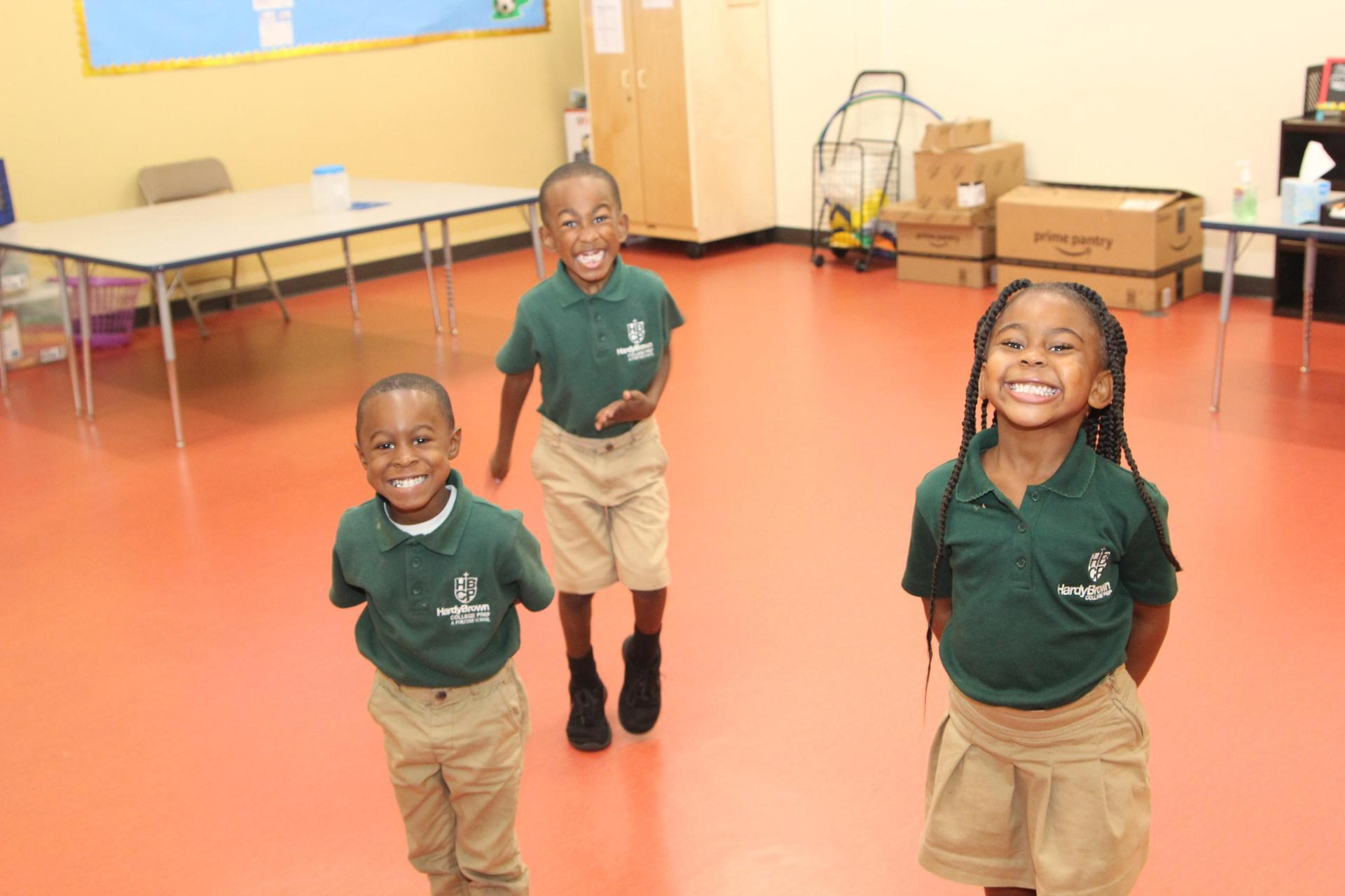 Kindergartners during after-school program
