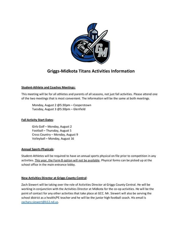 G-M Titans Activities Information Featured Photo