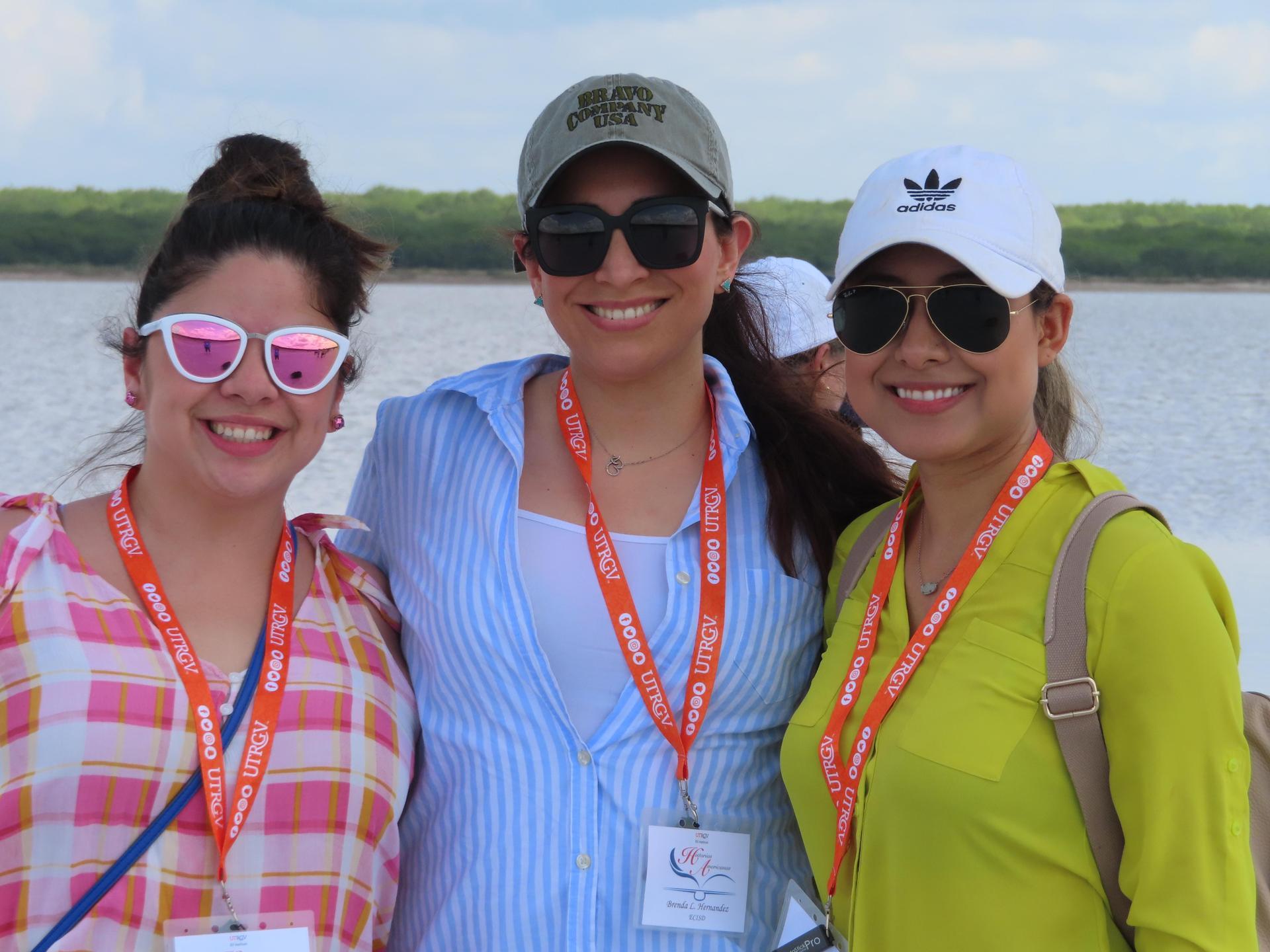 Group photo of three teachers