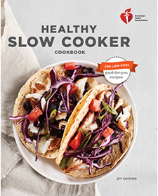 Healthy slow cooker cookbook cover