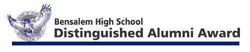Bensalem High School Distinguished Alumni Award Sign