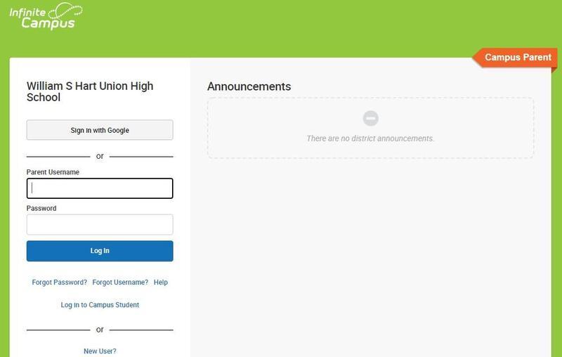 screenshot IC login page