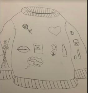 Sweater design in pencil