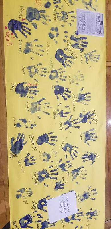 Blue Hands Mural