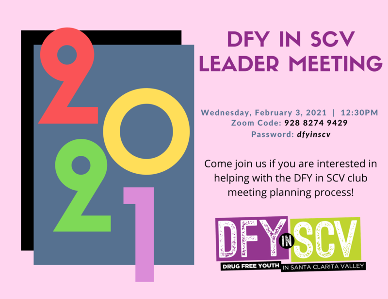 DFYinSCV Meeting 2/3/21 @ 12:30 Featured Photo
