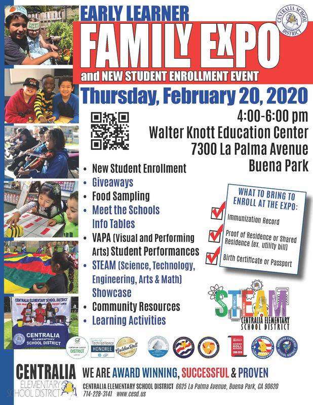 Family learner expo flyer