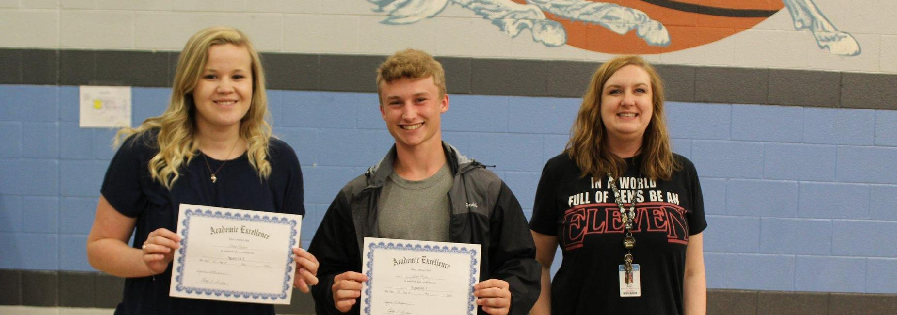 11th Grade Awards for Spanish II