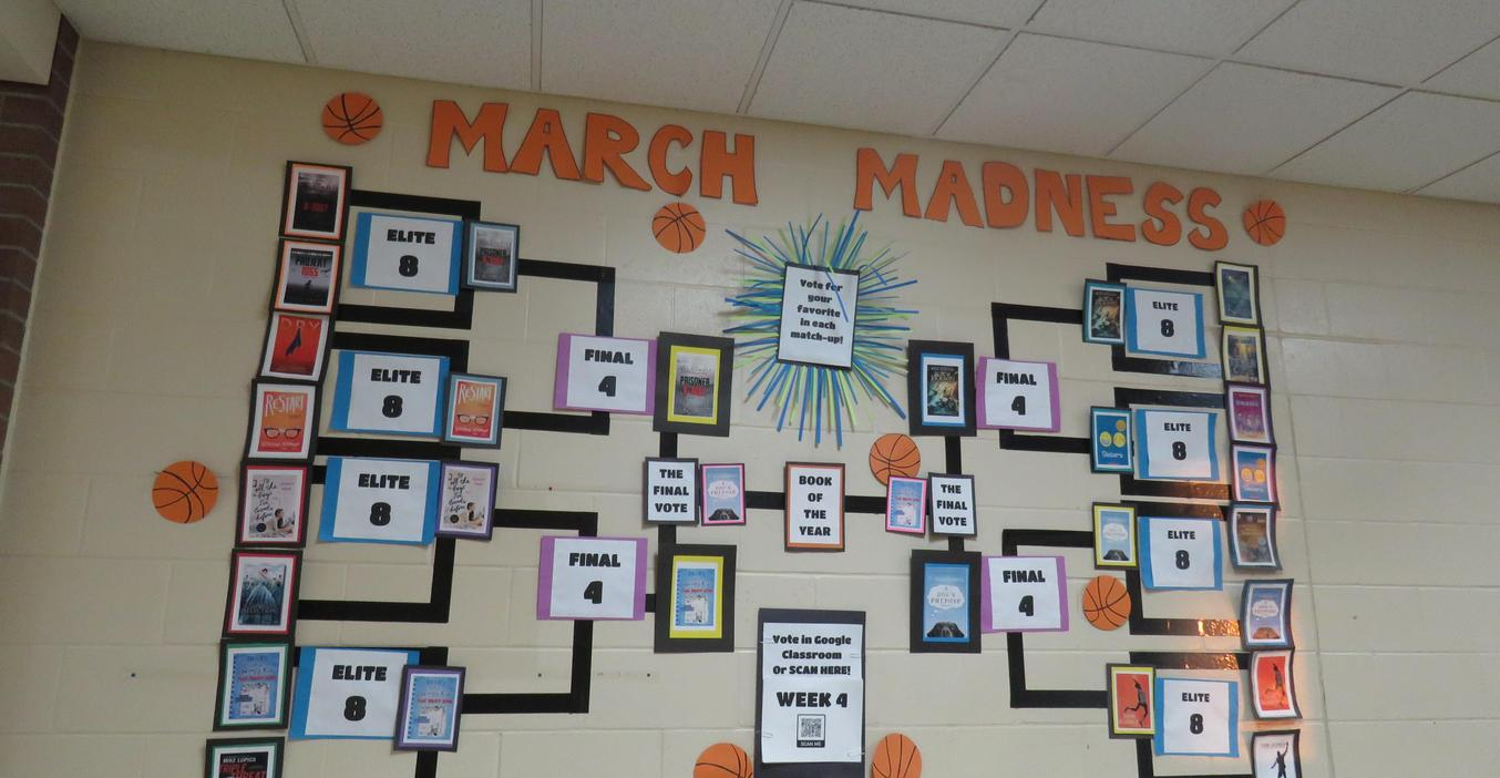 TKMS students turned  March Madness  into a book competition.