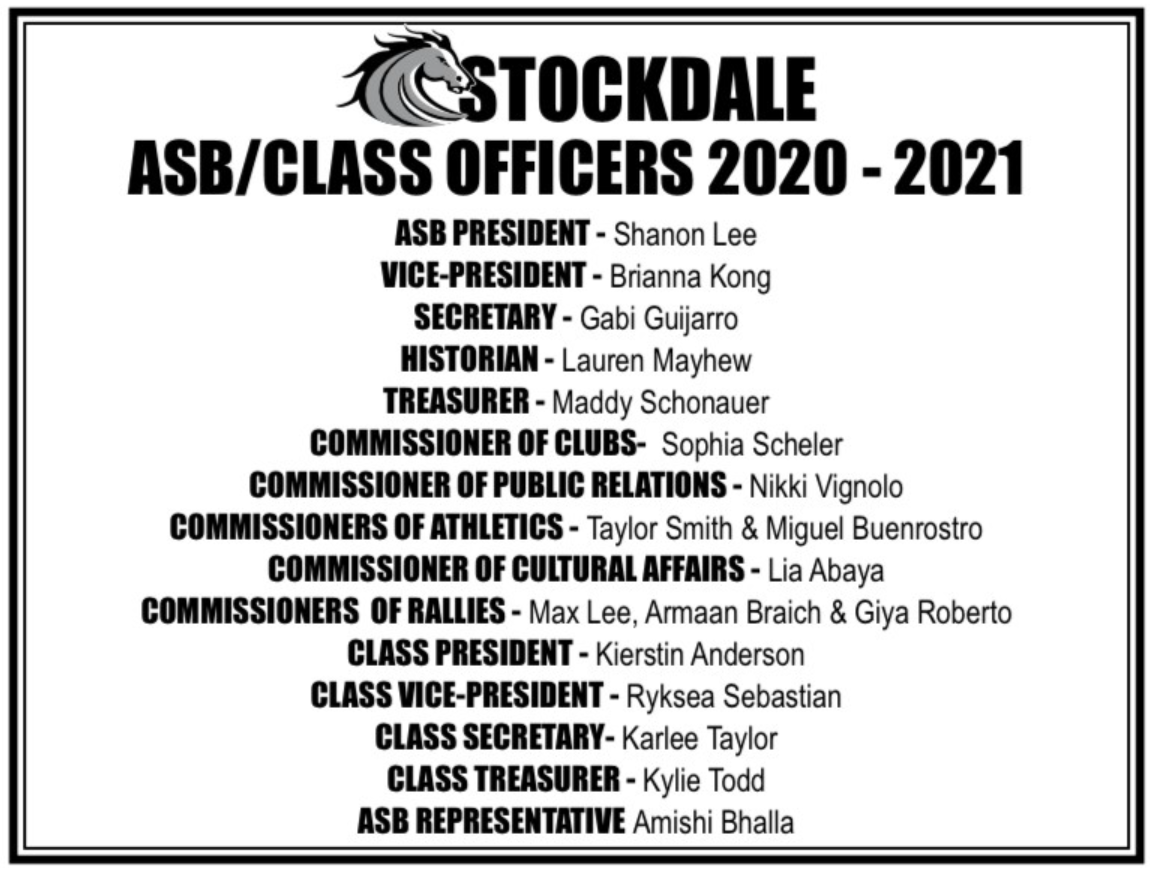 ASB Class officers