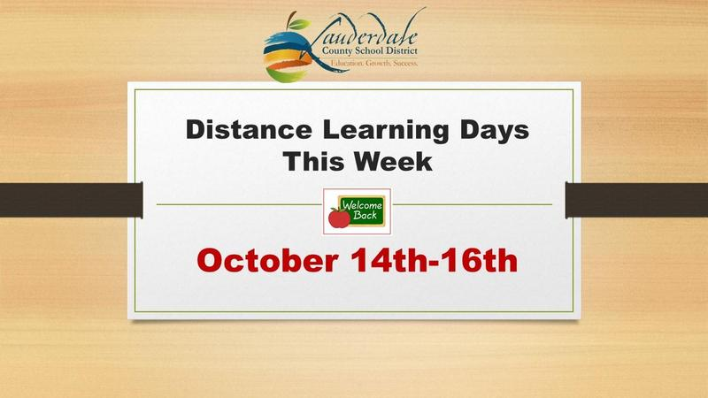 Fall Break Distance Learning Days Graphic