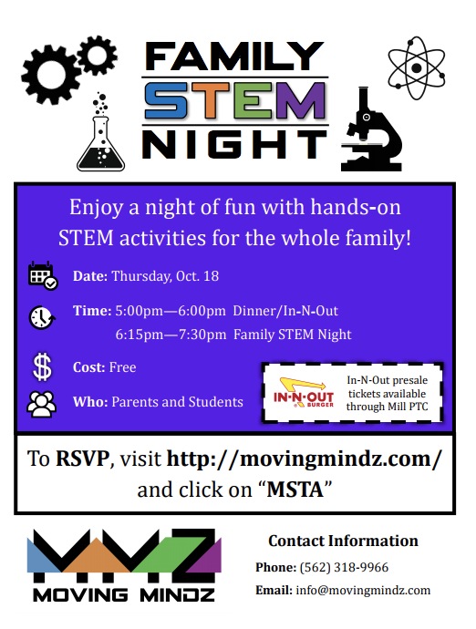 Flyer about family night