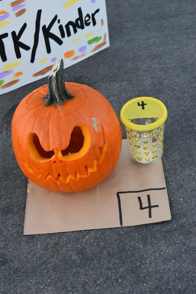 Carnival, 6th grade Pumpkin Contest, 1st Place Winner, TK/Kinder