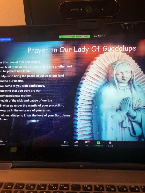 We always begin with prayer