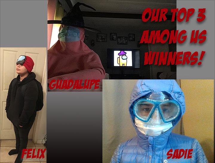 Among Us Dress up winners
