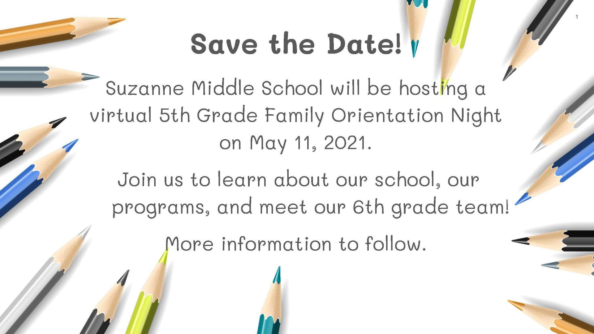 Suzanne Middle School Orientation