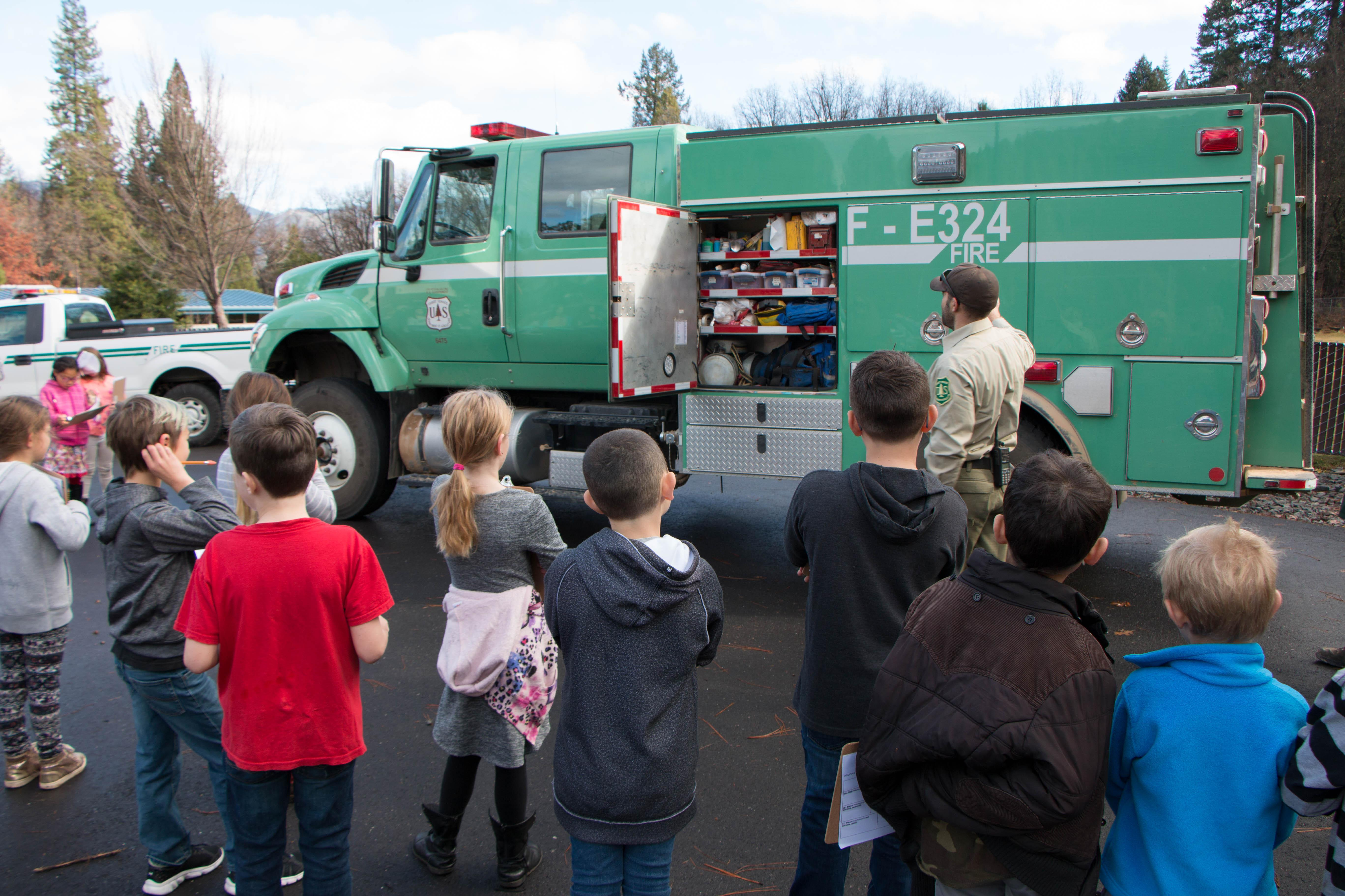 3rd graders at Quincy Elementary learning fire science