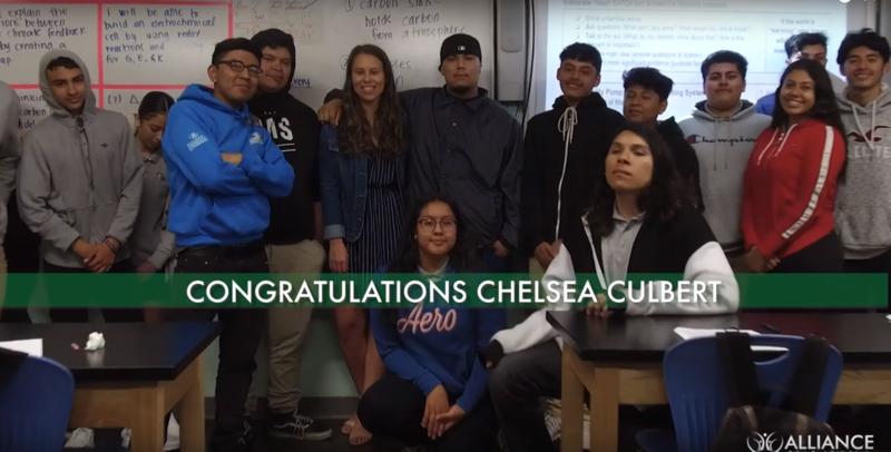 Alliance Teacher of the Year Finalist! - Ms. Culbert Thumbnail Image