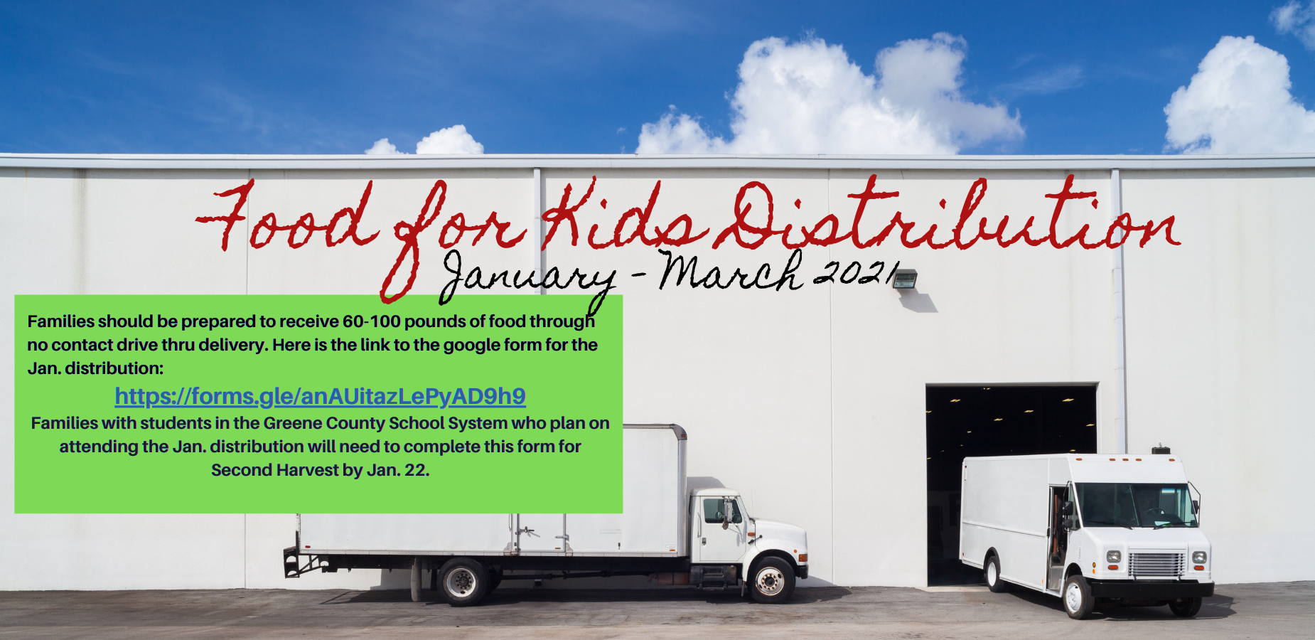 Food for Kids Distribution - Jan. - March 2021