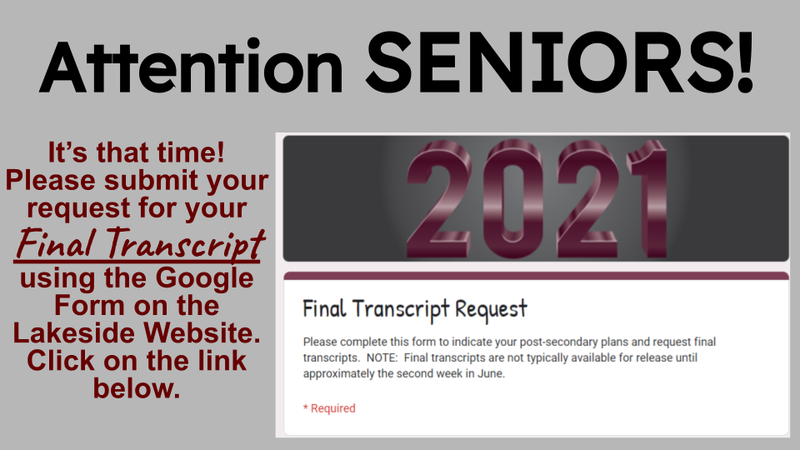 seniors - final transcript requests are online