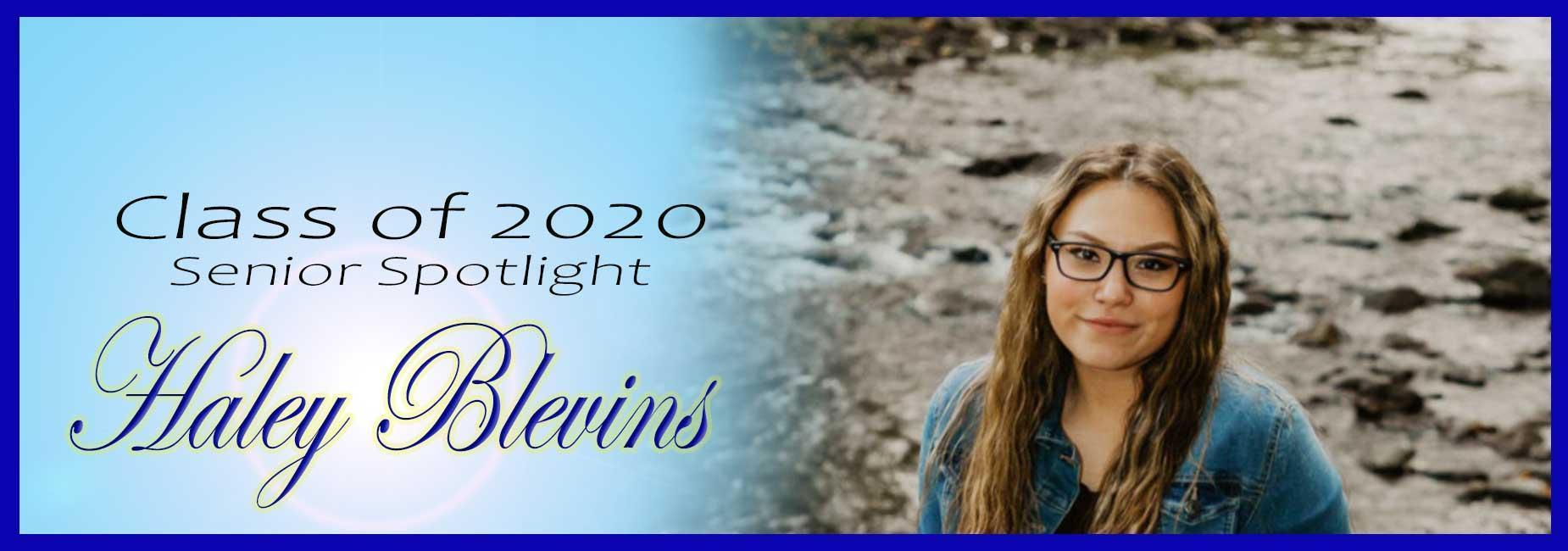 Senior Spotlight Haley Blevins