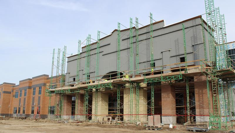 Construction at front of new CHS