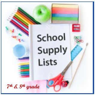 GMS 6th, 7th & 8th grade School Supplies List Featured Photo