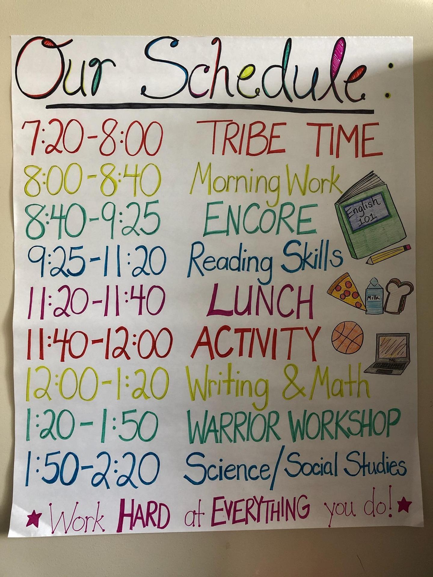 2020-2021 Class Schedule