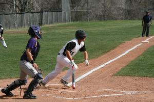 Image of the Demons Baseball Team in action