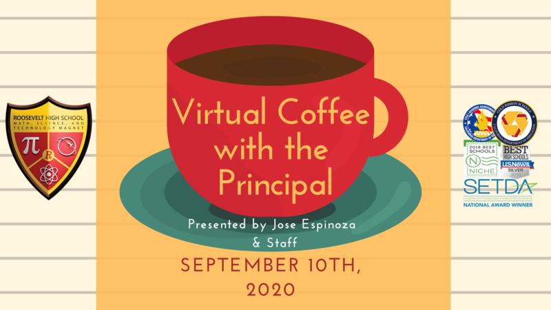 Virtual Coffee with the Principal, September 10th  / Café con el Director Virtual, 10 de septiembre Featured Photo
