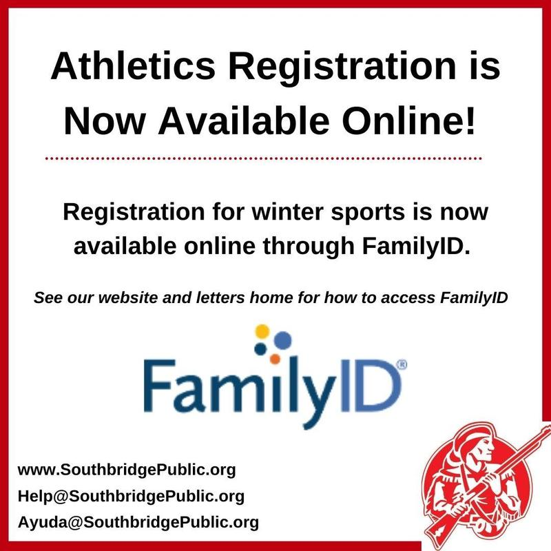 Graphic in English about athletics registration. All information is also in the body of the post.