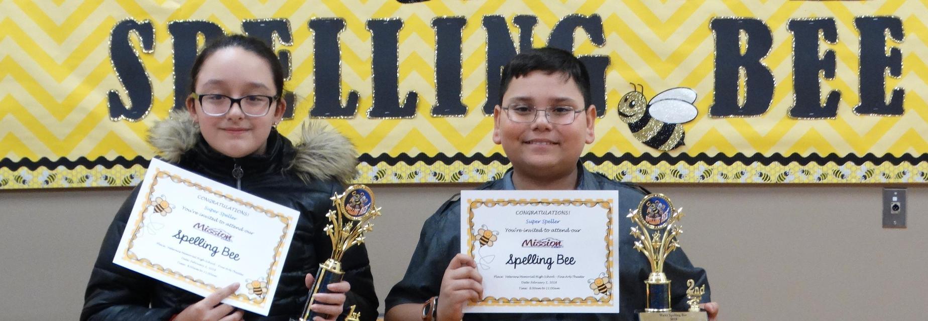 Waitz Spelling Bee winners