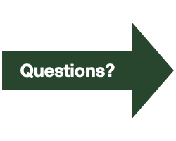 """Green Arrow with White Text that reads """"Questions?"""""""