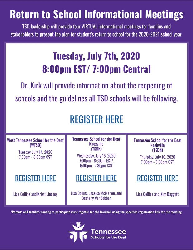 Informational Meetings for Parents/Families Flyer Image