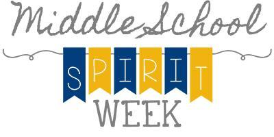 Middle School Spirit Week, November 18th - 22nd! Featured Photo