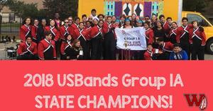WHS Band State Champions