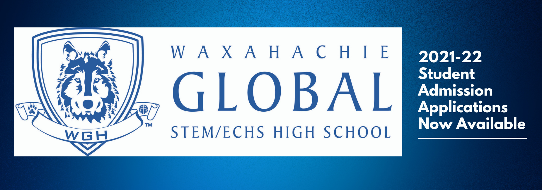 graphic with Global High School logo links to the application