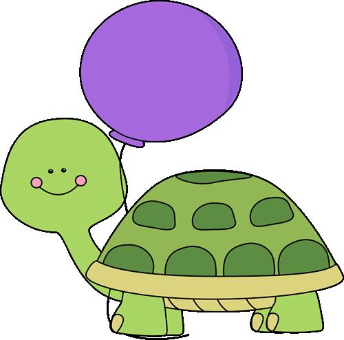 tutle with balloon