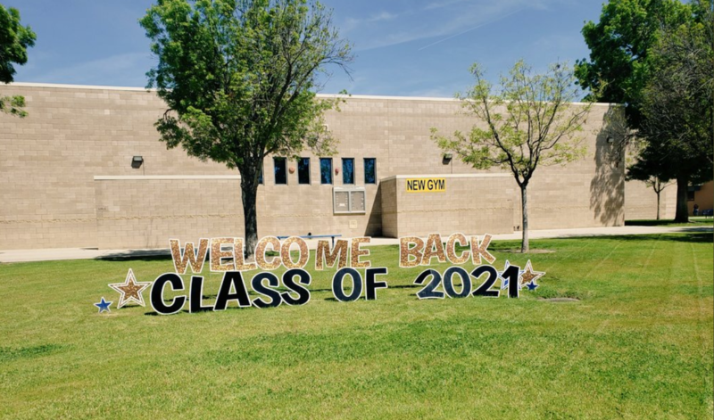 Shafter High School displays a sign 'Welcome Back Class of 2021