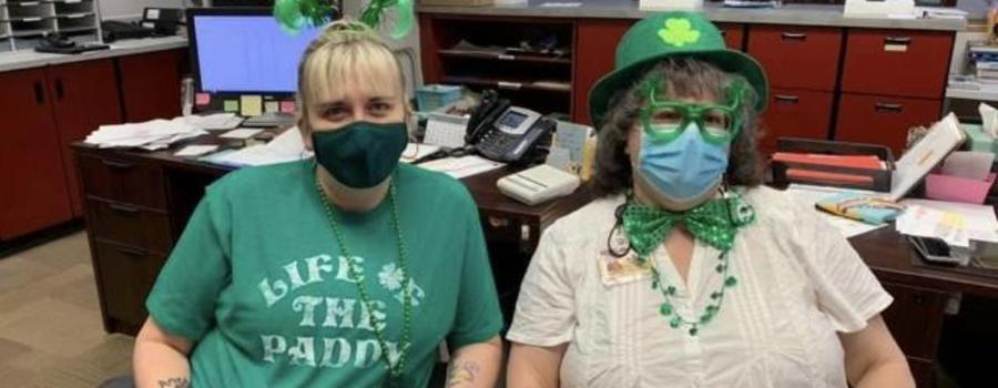 Main office St. Patrick's Day