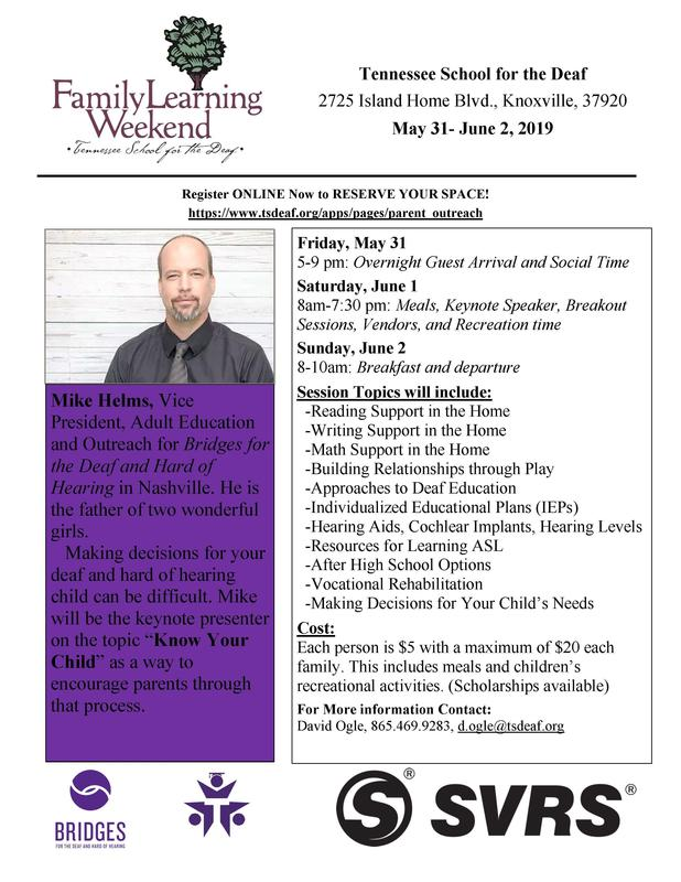Family Learning Weekend Flyer