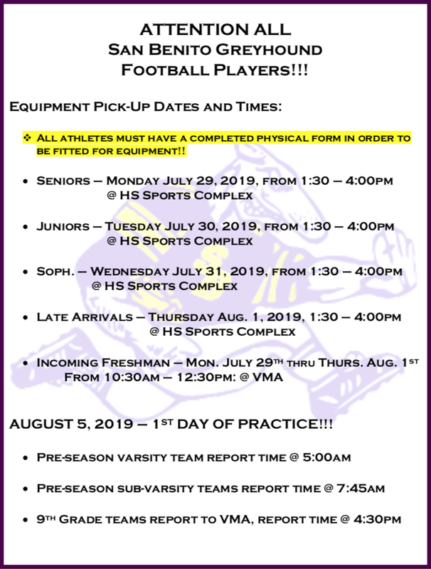 Attention Football Players