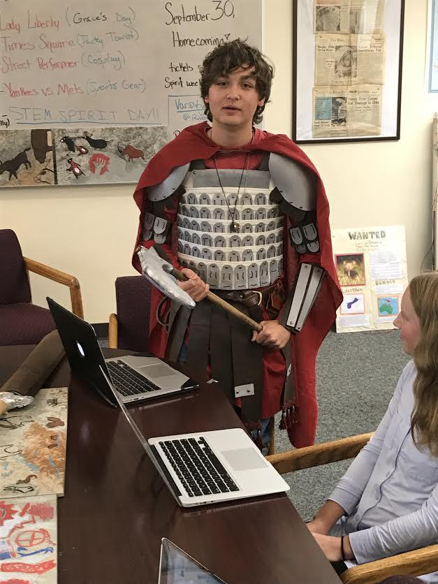 World History students engineer ancient weapons and armor for the Annual Clash of Empires Debate.