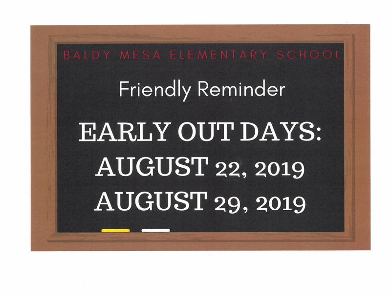 Early Out Reminder Featured Photo