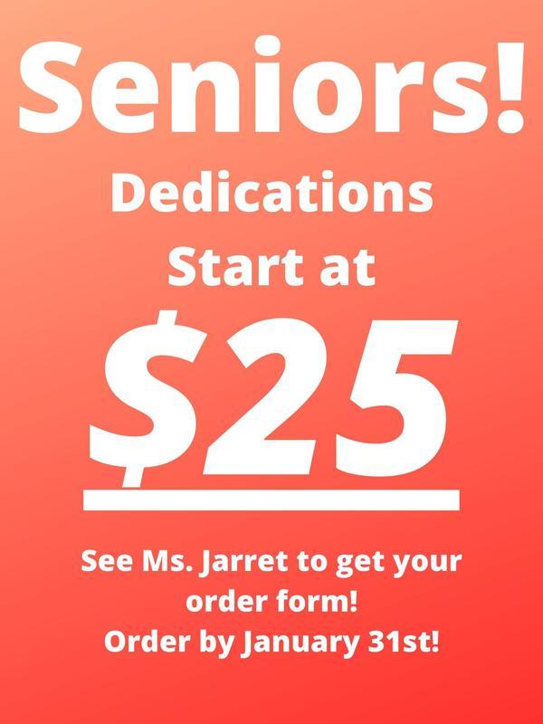 Senior Dedications start at $25.