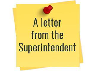 Letter from Superintendent Kujat
