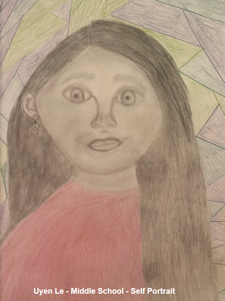 Uyen Le - Middle School - Self Portrait