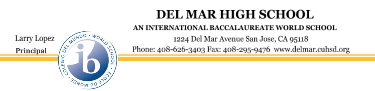 image of del mar letterhead